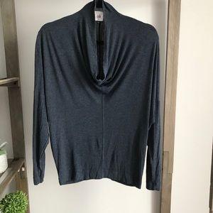 Cabi Soft Cowl Neck Blue Long Sleeve